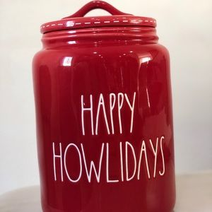 Happy Howlidays Cookie jar/canister